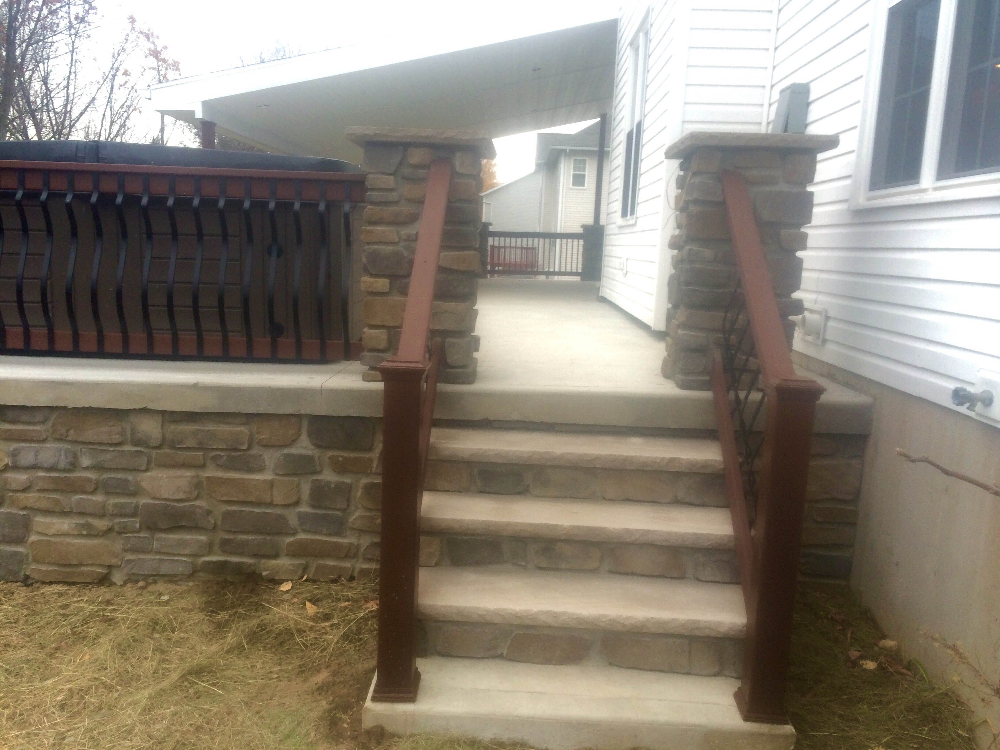 Rear porch steps