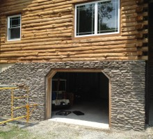 Real Stone Veneer Project During